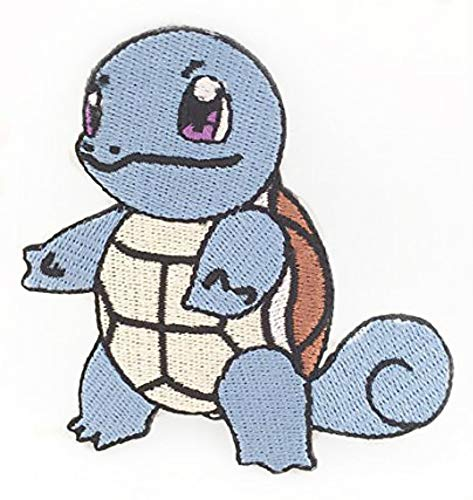 Squirtle Pokemon Patch Embroidered Iron on Badge Aufnäher Kostüm Fancy Kleid Wasser Pokémon Cosplay