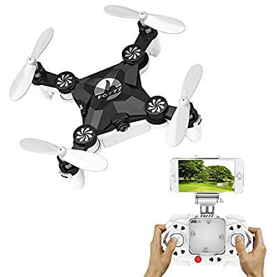 FQ777 Mini Portable Nano Drone Foldable Headless Mode 3D Mini 2.4G 4CH 6 Axis RC Quadcopter with Transmitter RTF