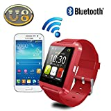 Yuntab U8 1.48 pollici Touch Screen Smart Watch Polso Orologio Bluetooth Mate Telefono Per iOS di iPhone 6plus /6/5 s / 5C / 5 / 4S / 4 Android di Samsung Galaxy 4 / Note 3 / Note 2 / S5 / S4 / S3 HTC BlackBerry LG Sony (rosso)