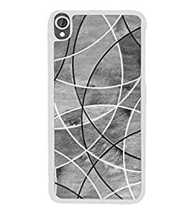 Fuson Designer Phone Back Case Cover HTC Desire 820 :: HTC Desire 820 Dual Sim :: HTC Desire 820S Dual Sim :: HTC Desire 820Q Dual Sim :: HTC Desire 820G+ Dual Sim ( Curves That Intersect At A Point )