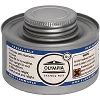 Olympia CB734 - Lata de combustible líquido, tiempo de combustión 4 horas, plateado (12 unidades)