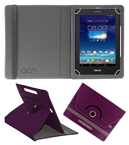 Acm Rotating 360° Leather Flip Case For Asus Fonepad 7 Me175cg Dual Sim Tablet Cover Stand Purple  available at amazon for Rs.149