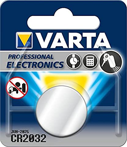 Varta - Pile Lithium - Bouton CR2032 3V - Non rechargeable - Pour appareils de haute technologie