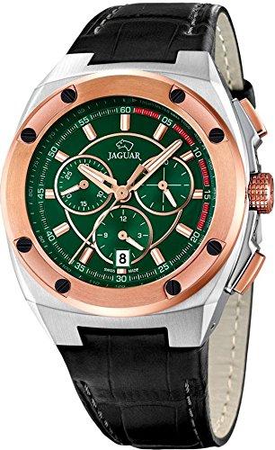 Jaguar Men's Watch Analogue Quartz Leather Black J809/2