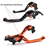 3D metallische Oberfläche einstellbar Kupplungs & Bremshebel Satz für KTM 690 Duke 2008-2011/990 SuperDuke 2005-2012/1290 Super Duke R/GT 2014-2017 /RC8/R 2009-2016 KTM hebel kupplungs Orange