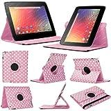 Stuff4 NX10-L360-PD-LPW - Funda para tablet Google Nexus 10 1ª Generación (resistente a rayones, función soporte, giratoria 360°, protector de pantalla y lápiz táctil), rosa