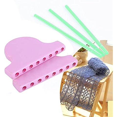 Bufanda que hace punto del cord—n del telar de tejer de bricolaje Trabajo Bowknot de la flor de la borla de herramientas que tejen