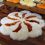 CXSM Australian Wool Round Teppich Fußmatten Pure Wool Teppich Schlafzimmer Garderobe Teppich Teppich Fassade Teppich Wolldecke Teppich Naturweiß Runde Durchmesser 120cm (Farbe : B)