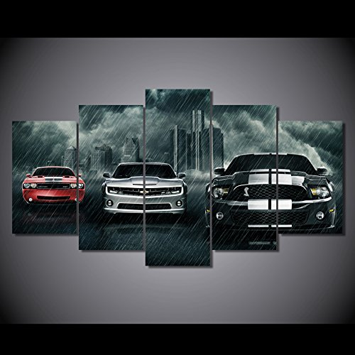 voitures-super-voitures-dodge-challenger-chevrolet-camaro-ford-mustang-shelby-poster-toile-decoratio