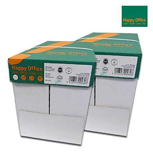 Happy Office Kopierpapier 5000 Blatt A4 80 g/m²