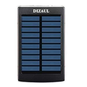 dizauL 13800mAh universel Panneau Solaire Chargeur de Secours avec Double USB Externe Mobile Chargeur de Batterie Banque d'Alimentation pour iPhone 6/5S/5C/5/4S/4,iPad 5/4/3/2,Mini;Samsung Galaxy S5 S4 S3 S2 S1 Note 3 Note 2 Nexus 7 et plus Android Smart Phones et tablettes.