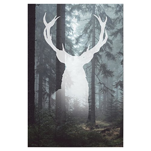 """artboxONE Poster 60x40 cm Abstrakt """"Gott des Waldes"""" hochwertiger Design Kunstdruck - Bild Abstrakt von Dunja Krefft"""