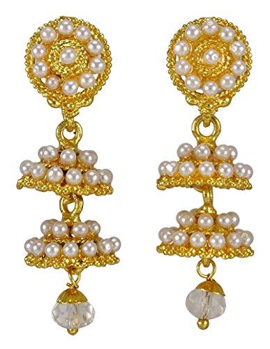Banithani Ton Indische Hochzeit Jhumka Jhumki Ohrringe Traditionellen Goldschmuck