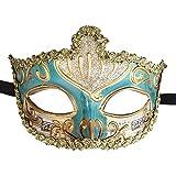 Máscara de disfraces de mujer Vintage Venetian Greek Roman Musical Party Mardi Gras (Cielo azul)