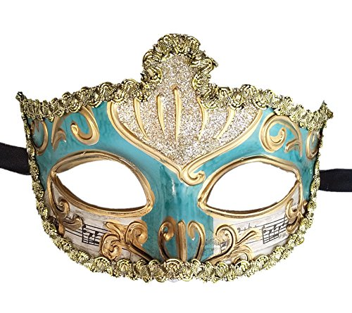 Women s Masquerade Mask Roman Greek Crown Musical Masquerade Ball Mask Party Mask  Blue