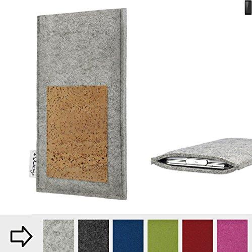 flat.design Handy Hülle Evora für Ruggear RG850 Made in Germany Handytasche Kartenfach Kork Filz Tasche Case