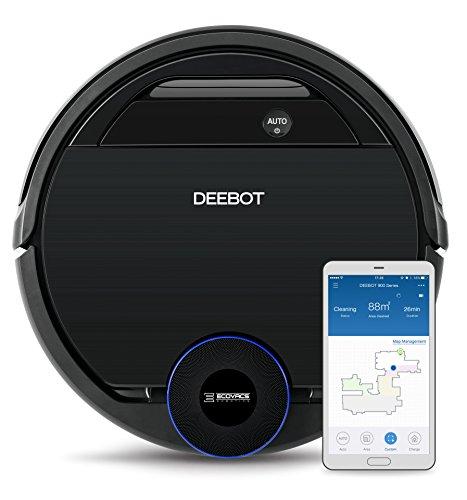 *Ecovacs Robotics Deebot Ozmo 930 Saug- und Wischroboter mit Ozmo-Technologie, intelligenter Navigation, App- und Alexa-Steuerung, 45 Watt, schwarz*