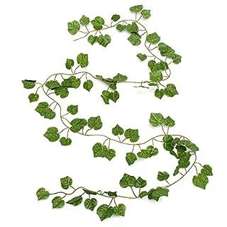Kungfull Mall 2.3m Künstliche Ivy Grape Plastic Gefälschte Leaves Garland Home Garten Dekoration