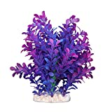 Sonline Plante Artificielle Aquatique en Plastique Violet-bleu Deco pour Aquarium