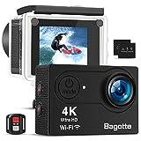 Bagotte Action Cam 4k Wi-Fi 16MP Impermeabile 30M Immersione Sott'Acqua…