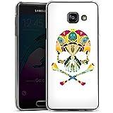 Samsung Galaxy A3 (2016) Housse Étui Protection Coque Crâne décoratif Tête de mort Crâne