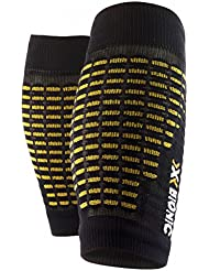 X-Bionic Spyker-medias, color amarillo/2014-Polaina negro, color Negro - negro, tamaño L/XL