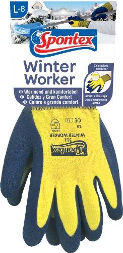 Spontex Winter Worker, 1 Paar Gr.L -Arbeitshandschuh mit Fütterung & Kälteschutz (Hand Fütterung Werkzeug)
