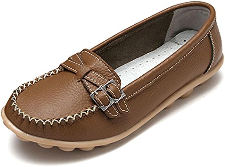fisca Mujer Hebilla Moccasins Mocasines Zapatos de Plano