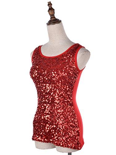 Anna-Kaci femmes brilliant charmant paillettes embelli soirée veste Rouge