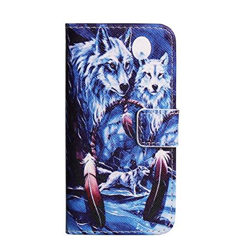 Monkey Cases® iPhone 6Plus/6S Plus 5,5pouces-Étui à rabat-Wolf Attrape-rêves-Premium-Original-Neuf-Dreamcatcher