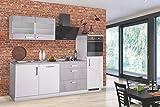 Wohnorama Küchenblock 270 cm Breit Mara II von Menke Möbel Weiss HG/Betonoptik by