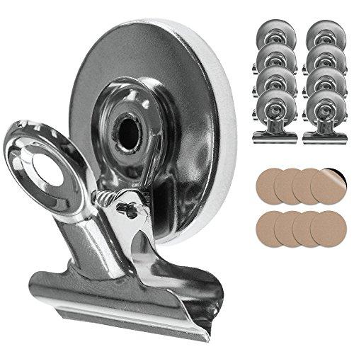 Tampen 8x starke Magnete · Magnet Clips inkl. Kratzschutz Sticker · Kühlschrankmagnete mit Klammer · Magnetische Klammern Haushalt · inkl. - Mini-kühlschrank-kalender
