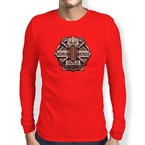 TEXLAB - Moria Miner Guild - Herren Langarm T-Shirt Rot