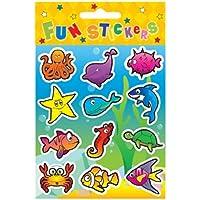 6 fogli di adesivi simpatici e pesce, ideale per Party Bag Fillers-Party Gifts