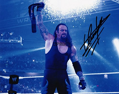 Fotodruck vom Undertaker, mit vorgedrucktem Autogramm, limitierte Edition