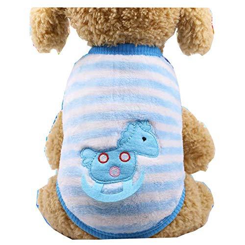 ZTMN Haustier Katze Hund Kleidung Kostüm Shirt, Kätzchen Welpe Pullover Pullover Kostüme Hund Koralle Fleece Tuch Sweatshirts, Entzückend Tragen Stilvoll Gemütlich (Farbe: Trojanisches Pferd, - Trojan Kostüm
