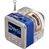 Andoer Mini Digital Andoer portatif de musique MP3 / 4 Player Micro SD / TF USB Radio FM Disk Président (Bleu)