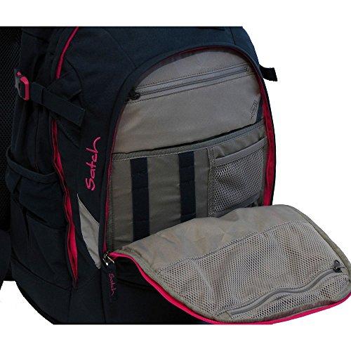 Satch Pack by Ergobag - 2tlg. Set Schulrucksack (+SchlamperBox Etui) - Blue Triangle - 5