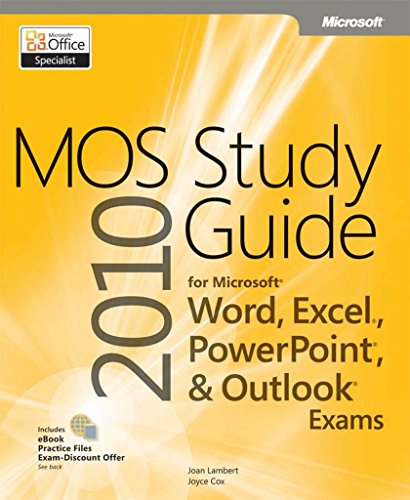 mo exam study word file Where are the practice files for the mos 2010 study guide.