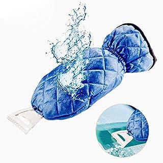 ICE Scraper Mitts für Auto Windbild-Scraper mit Handschuh, wasserdicht warming Soft Lined Mitt Thick Fleece Elastic Wristband Fenster,Blue