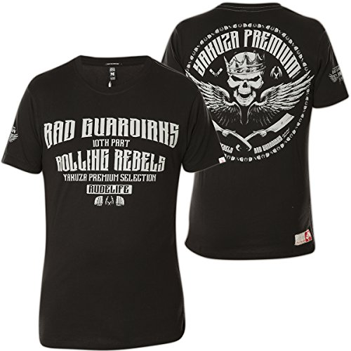 Yakuza Premium T-Shirt YPS-2208 Schwarz Schwarz