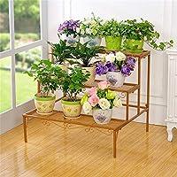 ACZZ Soporte para Flores, Estante para Macetas de Plantas de Metal de Hierro Forjado,