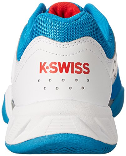 K-Swiss Ks Bigshot Light 2.5, Caña baja homme White/Methyl Blue/Fiery Red