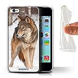 Stuff4 Coque Gel TPU de Coque pour Apple iPhone 5C / Loup Design/Animaux Sauvages...