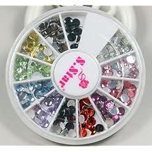 Con diseño de estampado de lápices de colores derretidos con diamantes de imitación de pinceles de fibra de juego de brocas para 12 para uñas diseño de vehículos de torno eléctrico para manicura