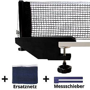 Fofoza TT Netzgarnitur Set – Profi Tischtennisnetz mit stabiler Metall Halterung, 2 Netzen &Messschieber | Universal Ping Pong Garnitur für alle gängigen Tischtennis Platten, Indoor & Outdoor