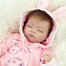 """45cm Vrai Vie Reborn Baby Dolls 18"""" Suave Vinilo de Silicona Reborn Lifelike Bebé Recién Nacido Regalo de Juguete"""