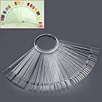 Mofun® 50X Nail Art Tips Colour Pop Sticks Display Fan Practice Starter Ring