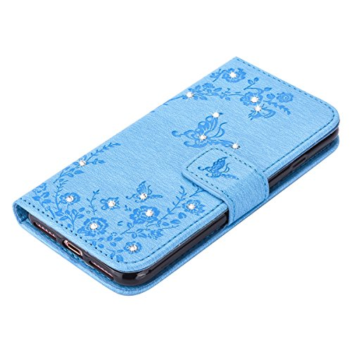 Ekakashop Custodia iphone 7 plus 5.5, Cover iphone 8 plus, Elegante borsa Custodia in Pelle Protettiva Flip Portafoglio libro Case Cover per Apple iphone 7 plus/iphone 8 plus 5.5 pollici con Carte Sl C#17