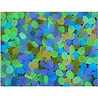 NingTeng 20pcs El resplandor decorativo de la yarda en las piedras de los guijarros para los ornamentos del